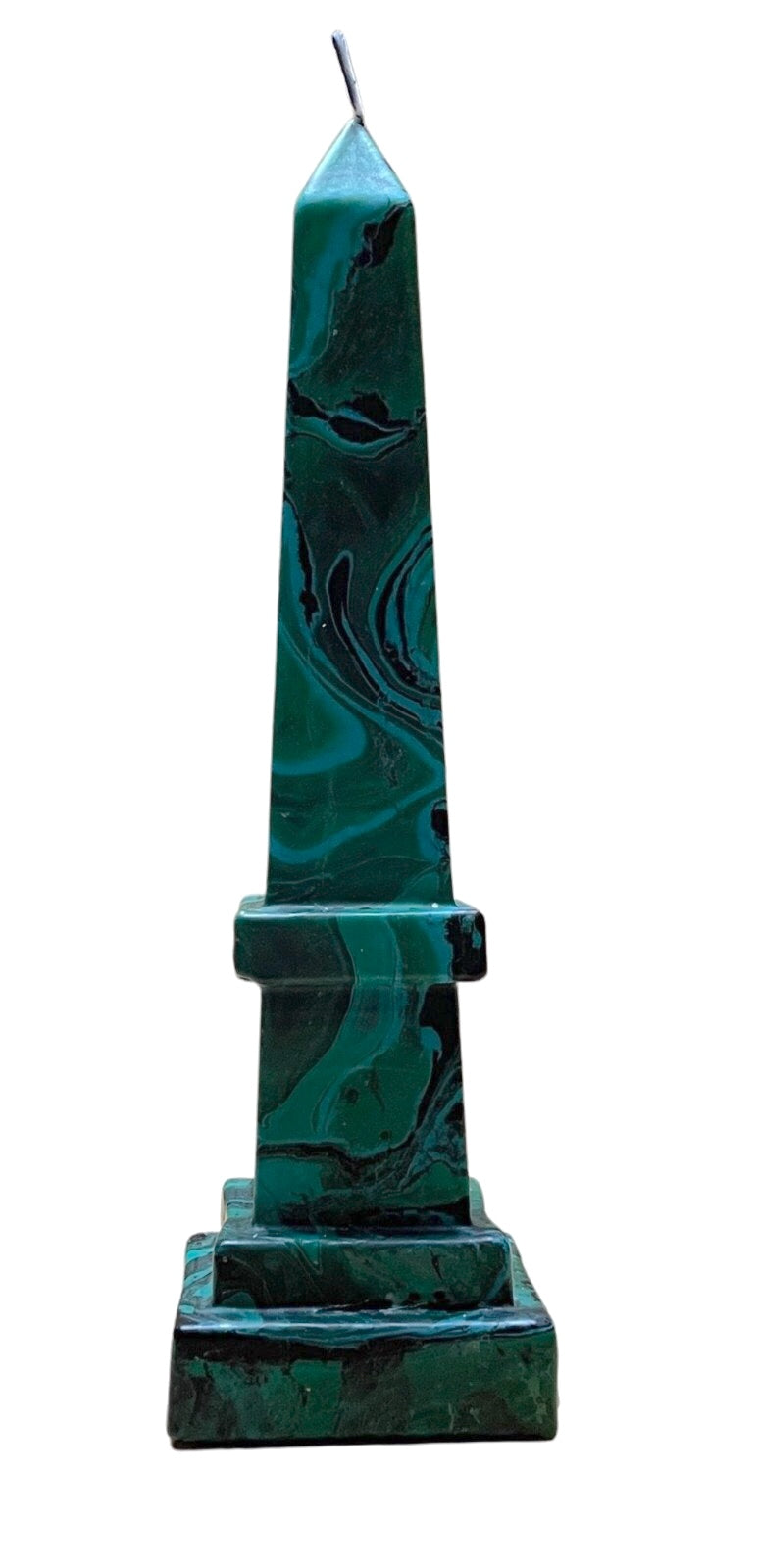 Malachite Obelisk Candle