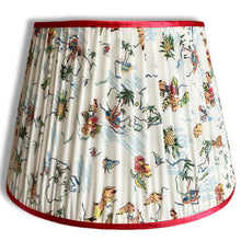 Load image into Gallery viewer, Mexican Wave Handmade Gathered Silk-lined Lampshades