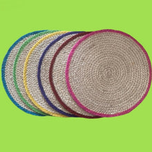 Load image into Gallery viewer, 6 Multicoloured Hand Woven Placemats