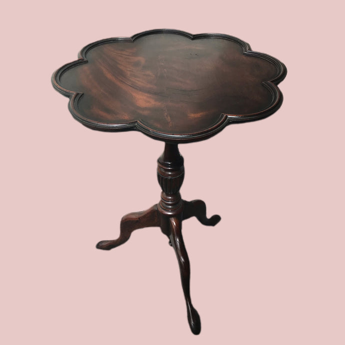 Antique Scalloped Shaped Mahogany Occasional Table