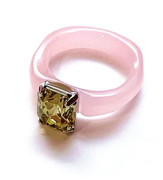 Acrylic and Rhinestone Ring