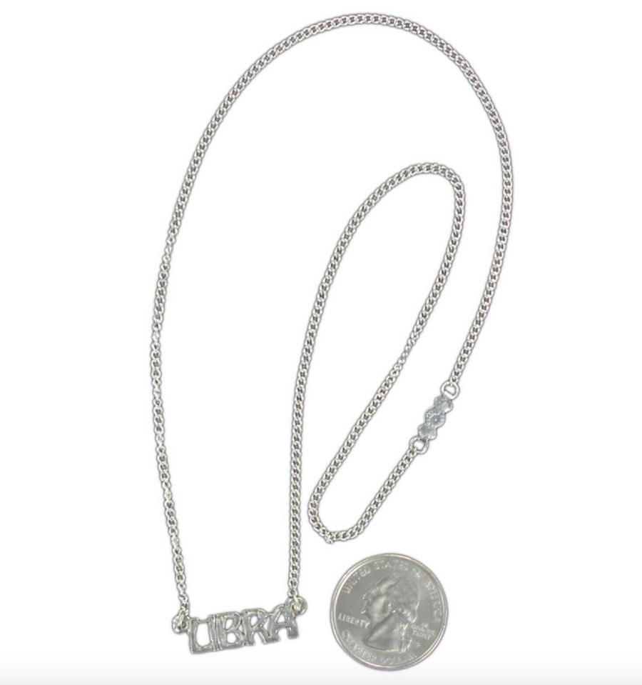 Vintage Silver LIBRA Necklace