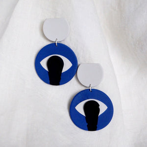 Vada Earrings // Eye Smear in Cobalt