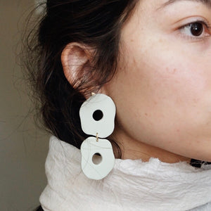Hazy // Imperfectly Round Earrings