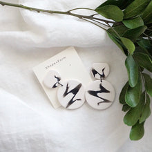 Load image into Gallery viewer, Vada Earrings // Calligraphy