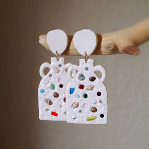 INSPIRED VESSEL Earrings in Mixed Media