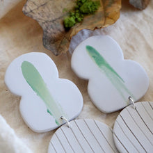Load image into Gallery viewer, Fig. 8 and Dot Earrings // Wasabi Smear