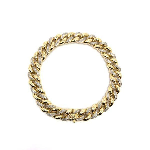 Men Bracelet 10k & Diamonds