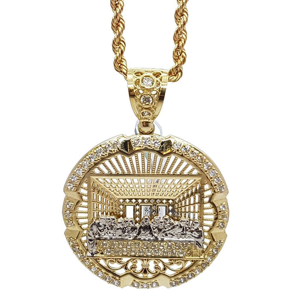 Rope Chain & PENDENTIF Last Supper Jesus - WORLDSTARBLING