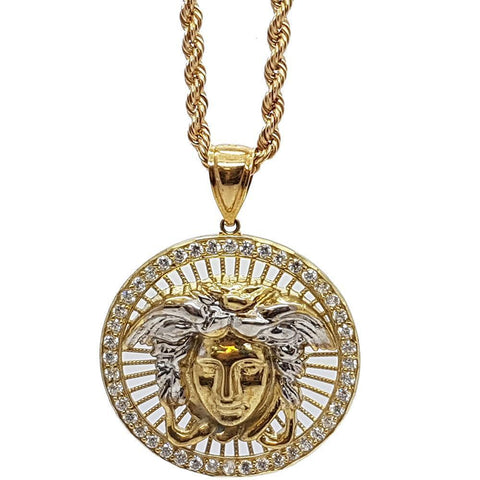 Rope Chain 3.0MM 10K With Versace en OR 10K MNG-178 - WORLDSTARBLING