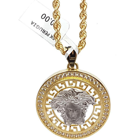 Rope Chain 3.0MM 10K With Pervgia en OR 10K MNG-176 - WORLDSTARBLING