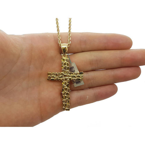Rope Chain 2.5MM 10K With Cross OR 10K MNG-130 - WORLDSTARBLING