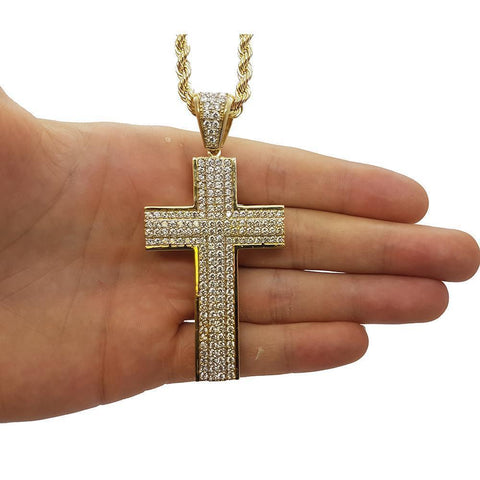Rope Chain 4.0MM 10K With Cross OR 10K MNG-012 - WORLDSTARBLING