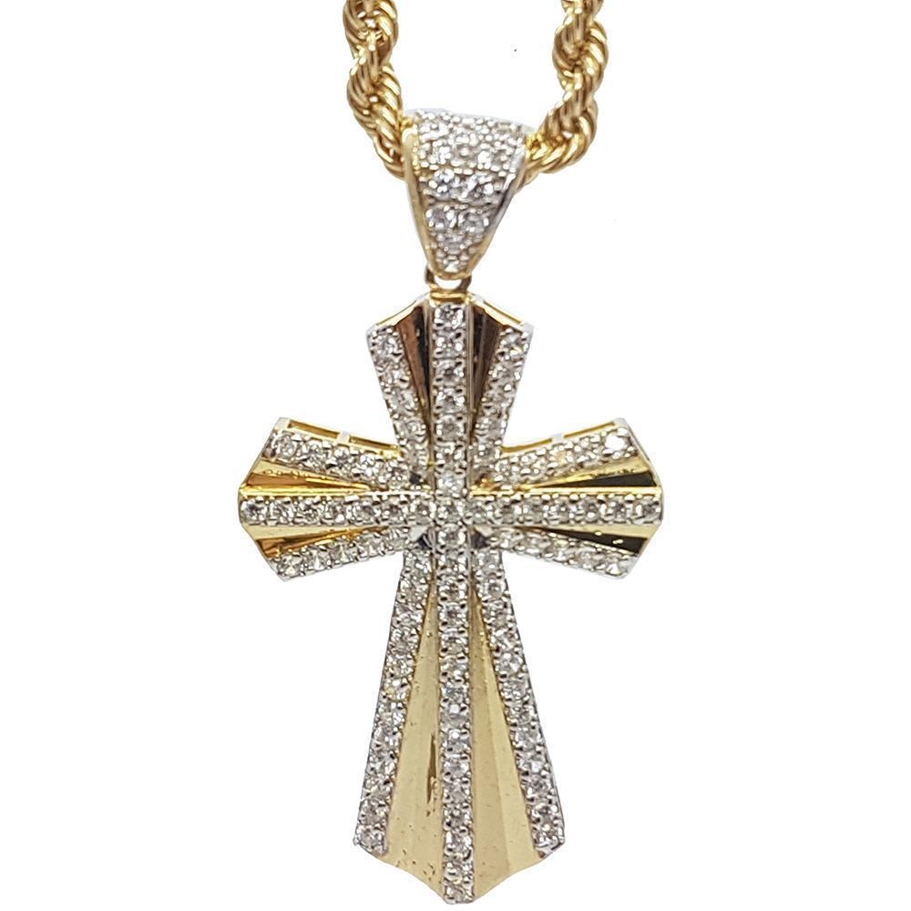 Rope Chain 4.0MM 10K With Cross OR 10K MNG-017 - WORLDSTARBLING