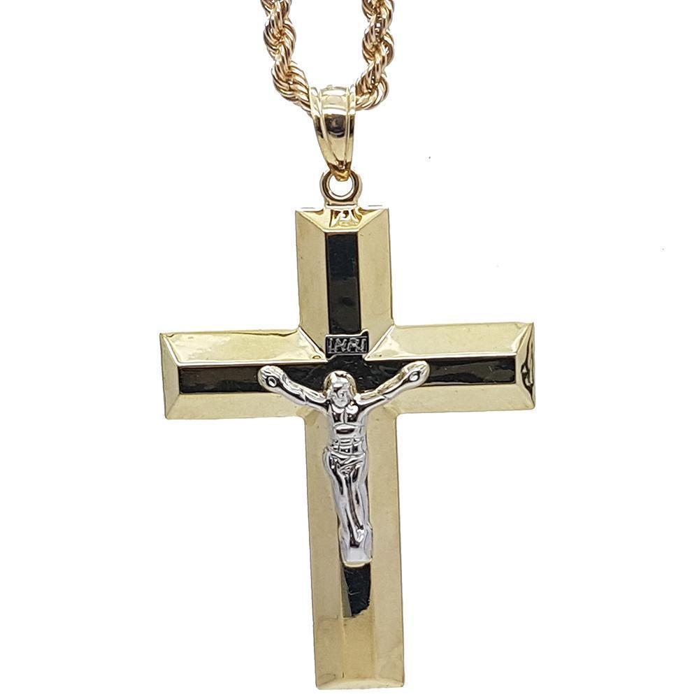 Rope Chain 4.0MM 10K With Cross OR 10K MNG-019 - WORLDSTARBLING