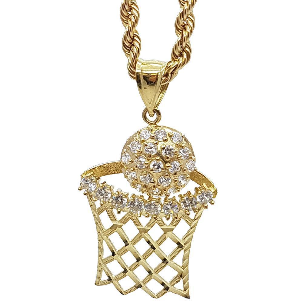 Rope Chain 4.0MM 10K With Basket en OR 10K MNG-024 - WORLDSTARBLING