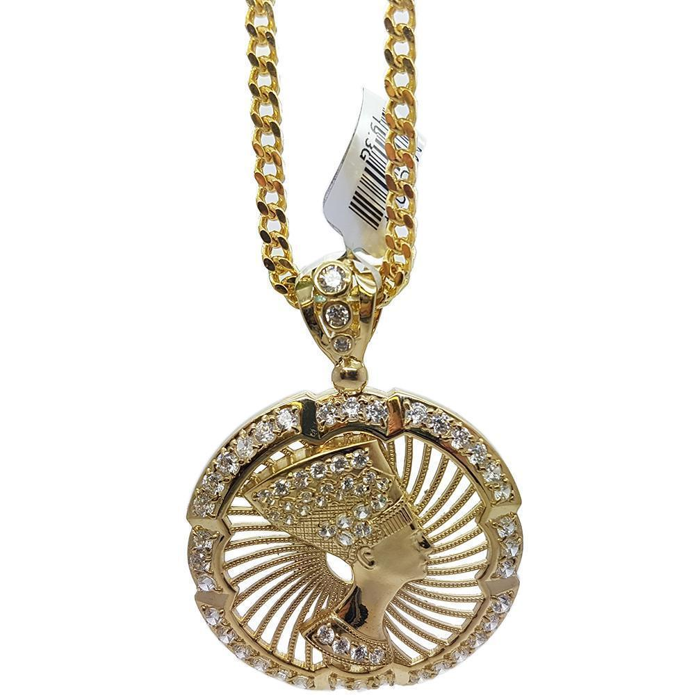 Chain Franco With Medallion Egyptian Pendant MNG-102 - WORLDSTARBLING