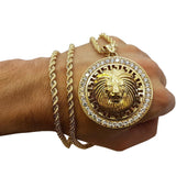 Rope Chain 4.0MM 10K With Lion Versace en OR 10K | MNG-002 - WORLDSTARBLING