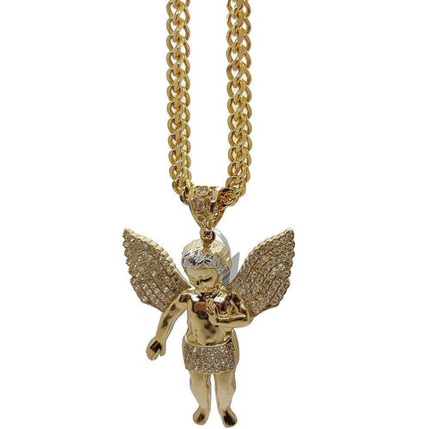 Franco en OR 5MM With Pendentif Angle 10K MNG-045 - WORLDSTARBLING