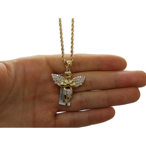 Rope Chain 10K With Pendentif Angle 10K - WORLDSTARBLING