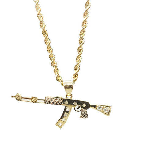 Rope Chain 2.5MM With AK47 NSA-012 - WORLDSTARBLING