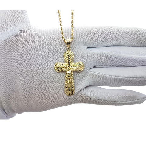 Rope Chain 2.5MM With Cross NSA-014 - WORLDSTARBLING