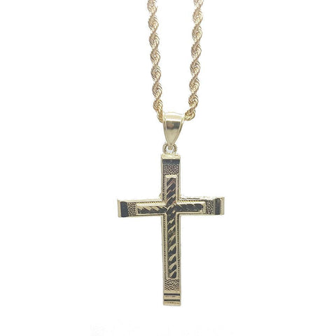 Rope Chain 2.5MM With Cross NSA-020 - WORLDSTARBLING