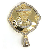 10K Yellow Gold 0.69 CT Diamond Round Pendant DPG-010 - WORLDSTARBLING