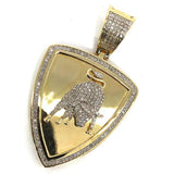 10K Yelow Gold 26MM 0.50CT Diamond Auto Exotic Pendant DPG-014 - WORLDSTARBLING
