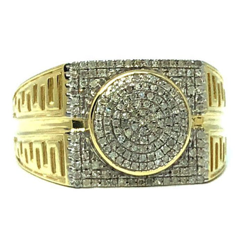 10K Yellow Gold 0.33CT Diamond Cross Ring DRG-006 - WORLDSTARBLING