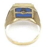 10K Yellow Gold Franc Mason Ring FMR_001 - WORLDSTARBLING