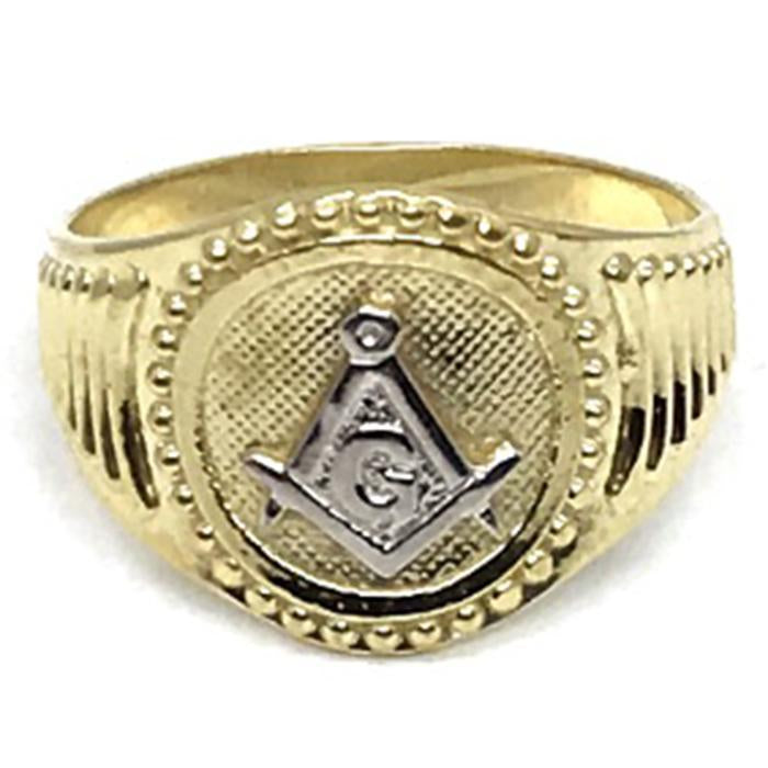 10K Yellow Gold Franc Mason Ring FMR_004 - WORLDSTARBLING
