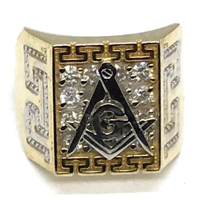10K Yellow Gold Franc Mason Ring FMR_005 - WORLDSTARBLING