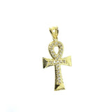 10K Yellow Gold Ankh Cross Pendant GAP-007 - WORLDSTARBLING