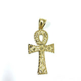 Ankh Egyptian Cross Pendant in 10K Gold Diamond Cut GAP-010 - WORLDSTARBLING