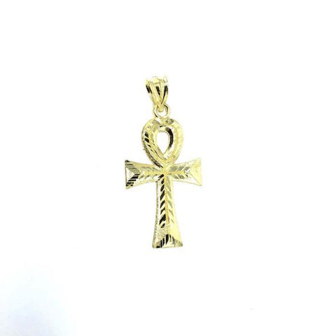 Diamond Cut Ankh Cross Men Pendant 10K S GAP-013 - WORLDSTARBLING