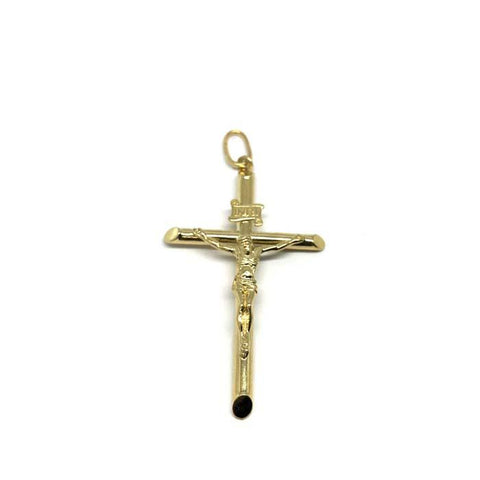 10K Yellow Gold Cross Men's Pendant XL GCP-050 - WORLDSTARBLING