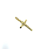 10K Yellow Gold Cross Pendant S GCP-051 - WORLDSTARBLING