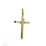 10K Yellow Gold Cross Pendant L | GCP-053 - WORLDSTARBLING