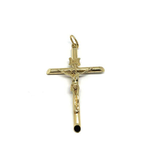 10K Yellow Gold Pendant Cross XXL GCP-054 - WORLDSTARBLING