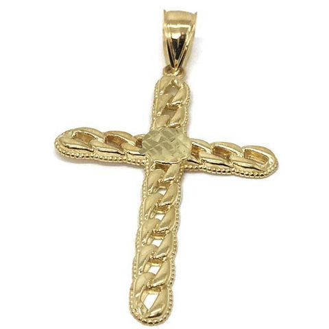 10K Yellow Gold Cross Pendant GCP_002 - WORLDSTARBLING