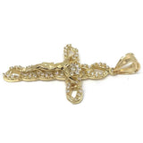 10K Yellow Gold Cross Pendant GCP_007 - WORLDSTARBLING