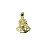 10K Yellow Gold Jesus Face Men's Pendant M GJP-030 - WORLDSTARBLING