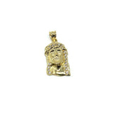 10K Yellow Gold Head Of Jesus Men's Pendant CZ S GJP-032 - WORLDSTARBLING