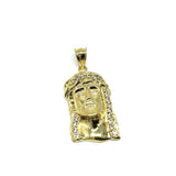 10K Yellow Gold Man's Pendant Face of Jesus M GJP-033 - WORLDSTARBLING