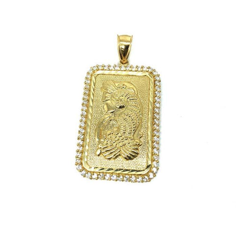 10K Yellow gold pendant Lady Fortuna LFG-006 - WORLDSTARBLING