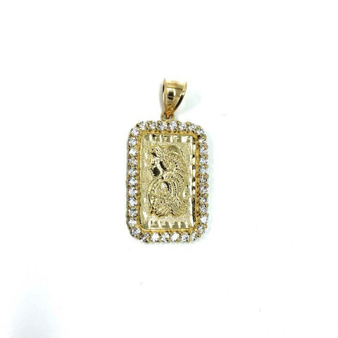 10K Yellow Gold Pendant Lady Fortuna LFG-009 - WORLDSTARBLING