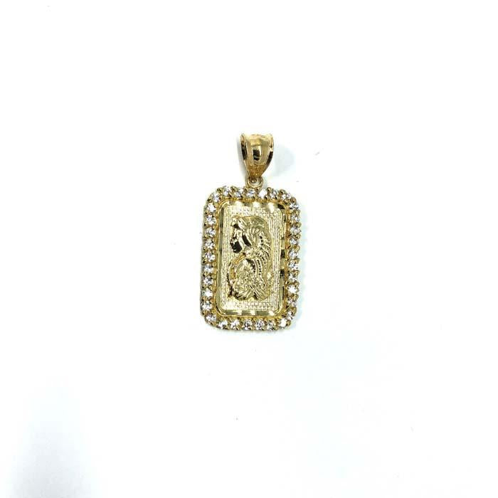 10 Karats Yellow Gold Men's Lady Fortuna Pendant GMP-003 - WORLDSTARBLING