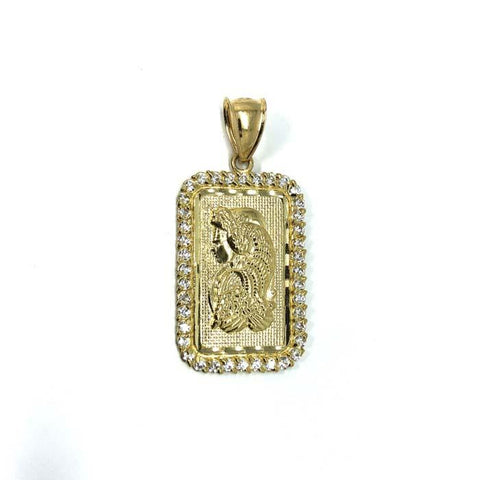 10K Yellow Gold Lady Fortuna LFG-011 - WORLDSTARBLING