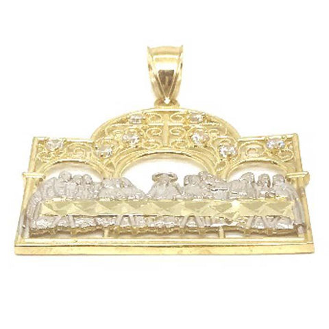 10K Yellow Gold and White Last Supper Of Jesus LSG_018 - WORLDSTARBLING